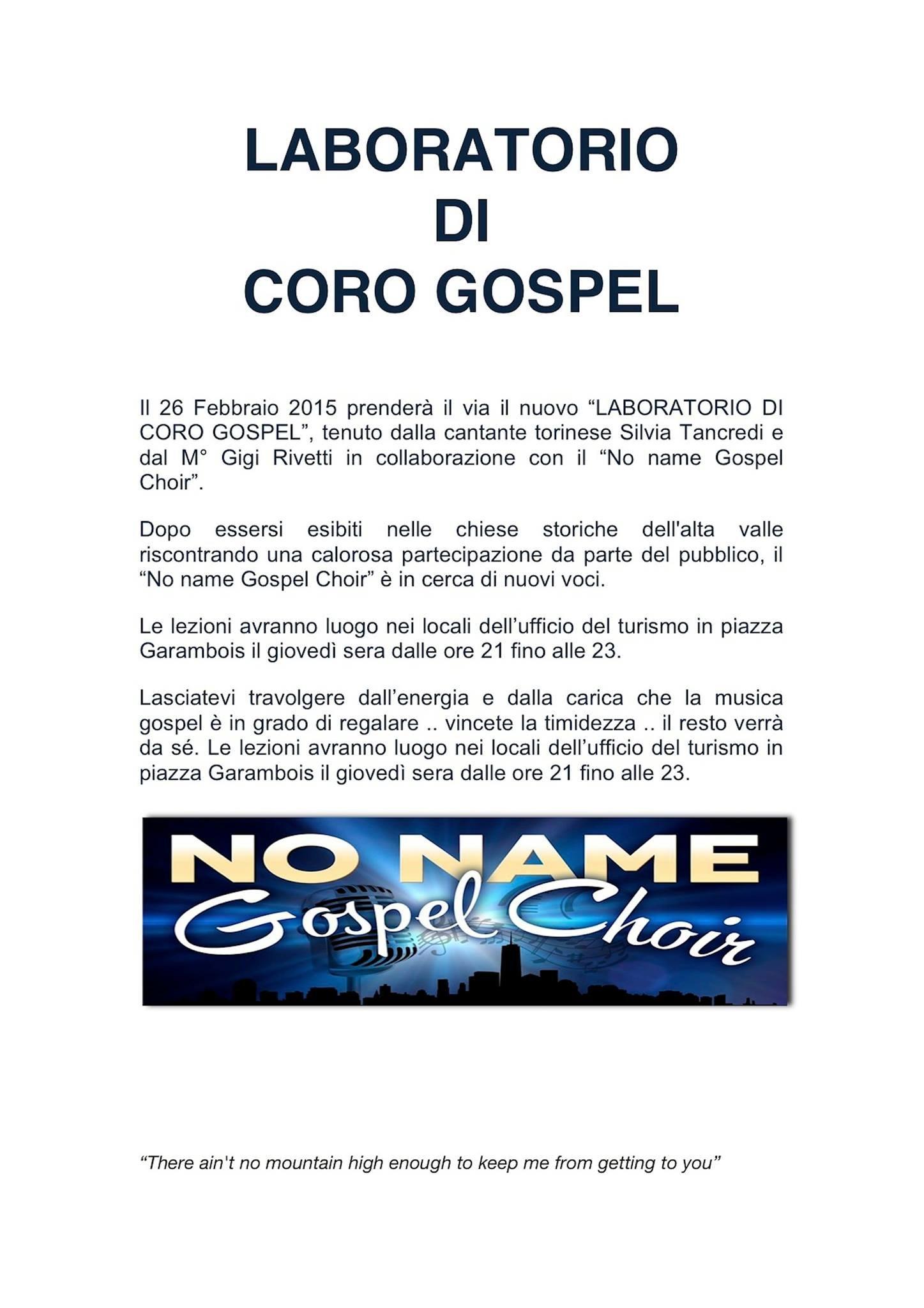 Laboratorio di Coro Gospel