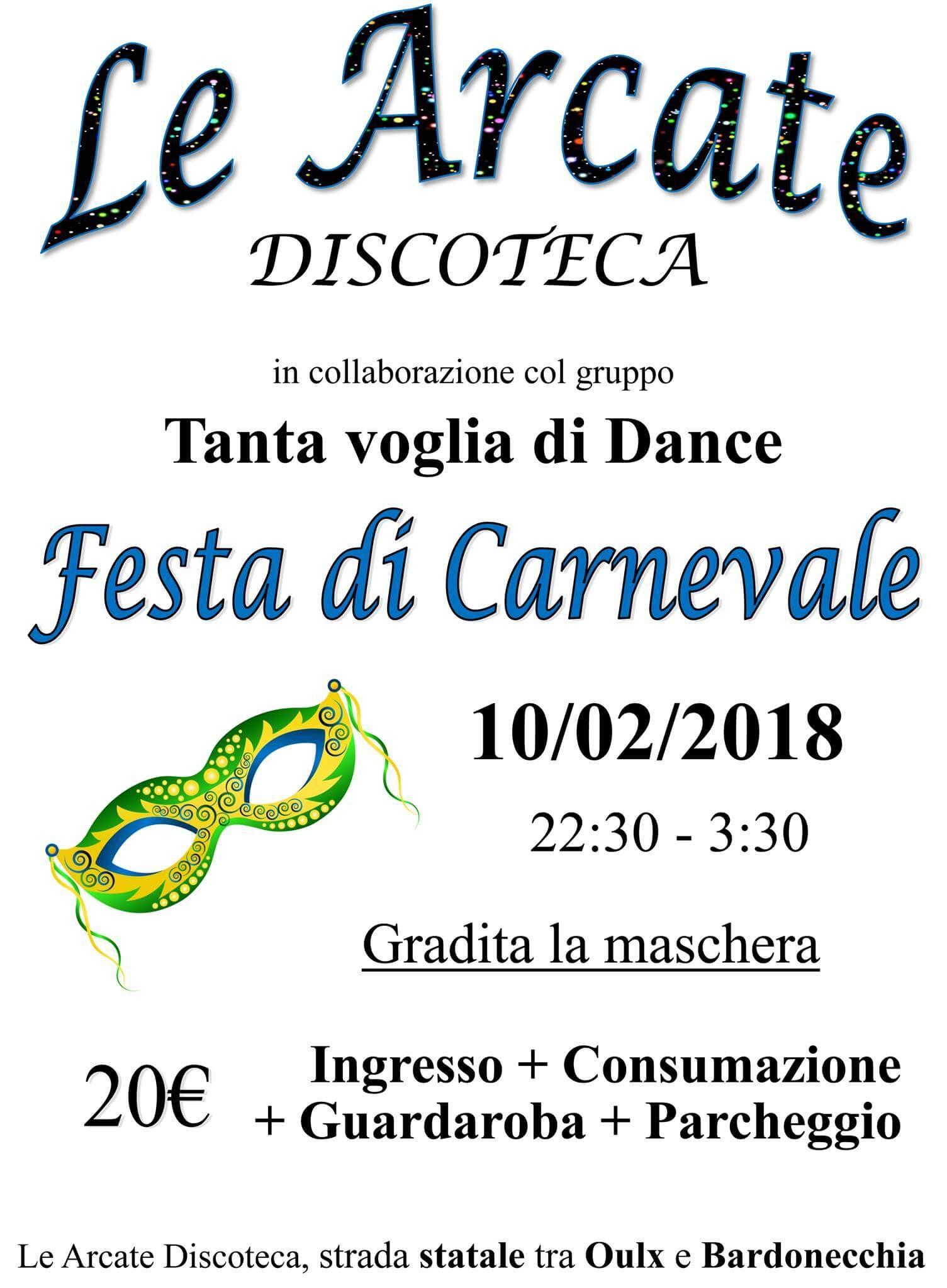 Festa di Carnevale a Le Arcate